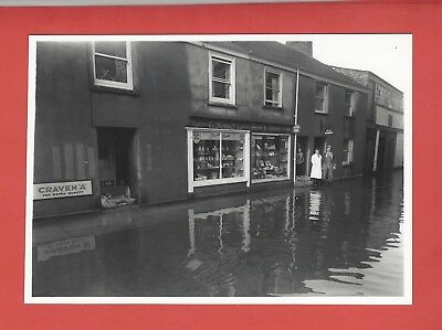 Cornwall Lostwithiel 1956 Showing Flooded Street Ellis Reproduction Photo