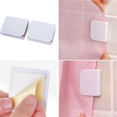 NEW 2pcs Shower Curtain Clips Holder Keep Water in Shower or Bath Self Adhesive
