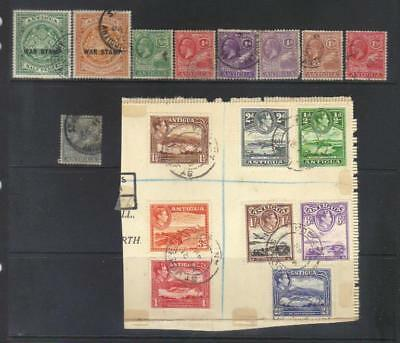 Antigua 1916-1938 Used Selection Cat £25+