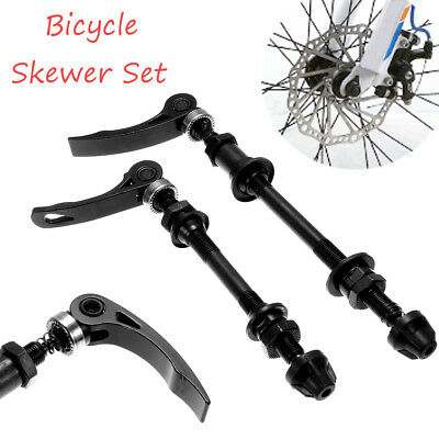 Mountain Bike Bicycle Wheel Quick Release Cycle Skewer Set Lever Front Rear Axle