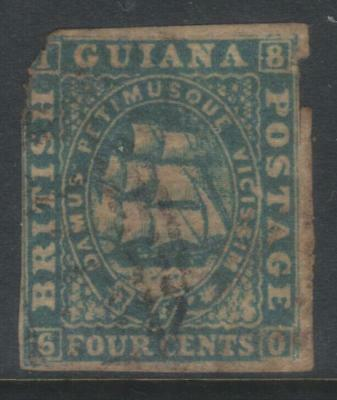British Guiana 1853 Defins Sg20 ? Used Cat £600