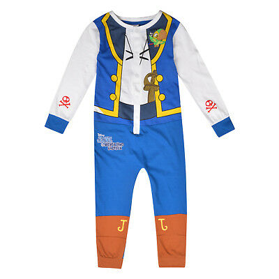 Boys All In One Disney Jake And The Neverland Pirates Costume Dress Up Jumpsuit