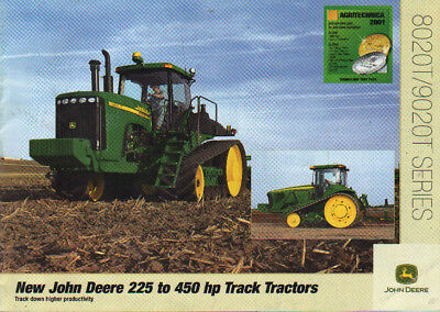John Deere 8020T and 9020T, 225 to 450hp Track Tractor Brochure Leaflet