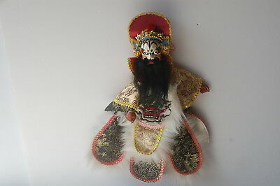 Vintage Beautiful Chinese/oriental Theater Opera/ Hand Puppet Doll Long Beard