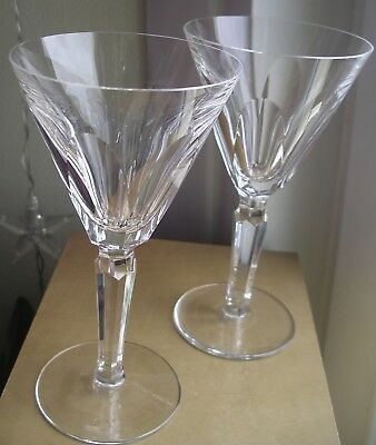 Waterford Crystal red claret wine irish cut glasses Sheila vintage  x2
