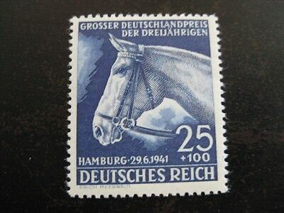 THIRD REICH 1941 mint Blaues Band Horse Race stamp!