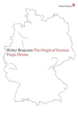 Benjamin-The Origin Of German Tragic Drama BOOK NEW