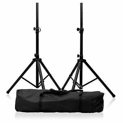 2 X Speaker Stand High Quality PA Tripod Stands kit with Bag Stand DJ Disco