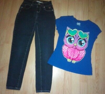 Justice Owl 2 Piece Girls Outfit Size 8-10
