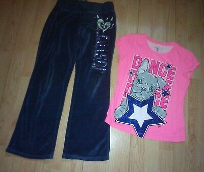 Justice Dance 2 Piece Girls Outfit Size 8