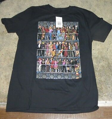 abe9a863069 Doctor Who Black T Shirt All Doctors XL