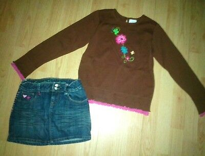 Hanna Andersson & Gap Kids 2 Piece Girls Outfit Size 8-10 140
