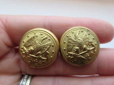 Lot of 2 Antique Metal Military/ Uniform BUTTONS Navy Scovill Waterbury (D30)