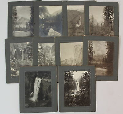 10 Antique Western Original Authentic Yosemite Photographs, Early 20thC, NR