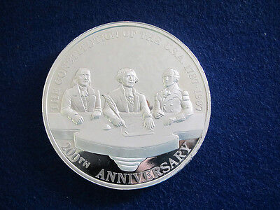 1787-1987 US/Mexico 200th Anniversary 12 Oz Silver Proof - Free U S Shipping