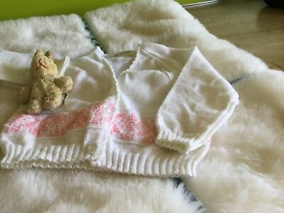 AUTHENTIC VINTAGE 1970s UNUSED BABY GIRLS CHILDRENS CARDIGAN 6 months