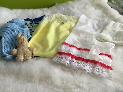 AUTHENTIC BABY GIRL BOYS VINTAGE BUNDLE PETTICOAT ROMPER ETC  UNUSED 3/18m 70s