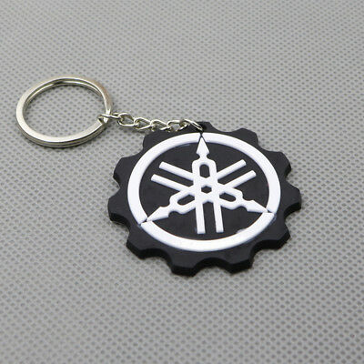 Cool Motorcycle Rubber Keychain Keyring Key Ring Key Chain For Yamaha YZF Black