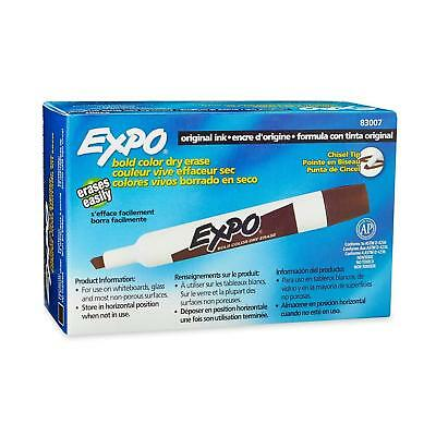 Expo Brown Dry Erase Markers. Chisel Tip. 1 Pack of 12 Markers. SAN83007.