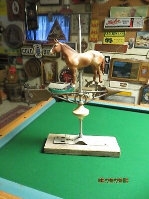 Robbins Maryville Missouri Horse Weathervane, Mounted On Board
