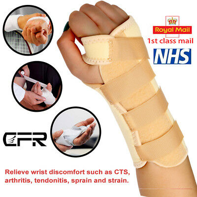 Wrist Support Splint for Pain Relief Carpal Tunnel Hand Brace RSI Injury NHS Use