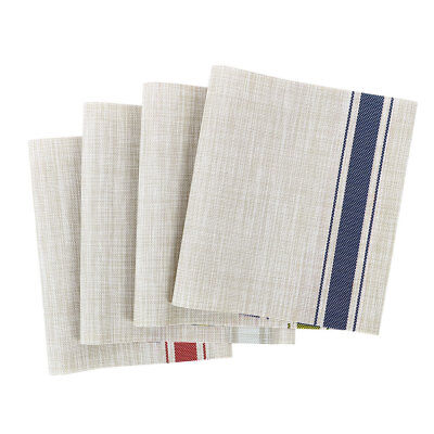 Heat Resistant Non-skid Removable Washable PVC Table Mats Woven Placemats