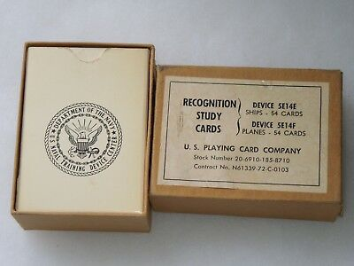 Vietnam Era US Navy Recognition Study Cards US & Foreign Ships & Aircraft