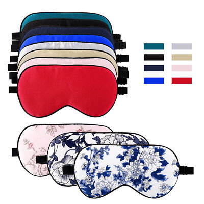 Adjustable Strap Natural Silk Sleep Mask Blindfold Eye Mask for Sleeping