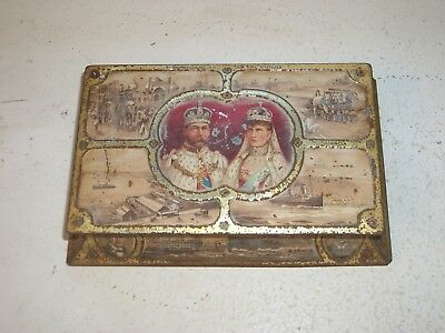 King George V & Queen Mary Coronation Rowntree Chocolate Tin