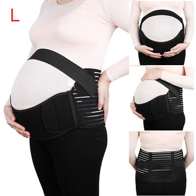 Maternity Antepartum Belt Abdominal Support Waist Belly Band Back Brace Size L