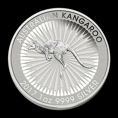 2017 Silver 1 Troy oz .9999 Australian Kangaroo $1 BU Coin From Mint Roll 2