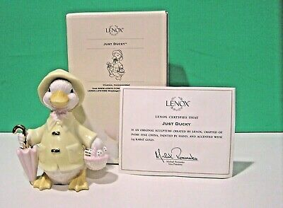 LENOX EASTER JUST DUCKY sculpture NEW in BOX with COA Duck