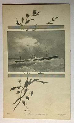 East Main Conference Seminary 1882 Program Card with Ship 23981