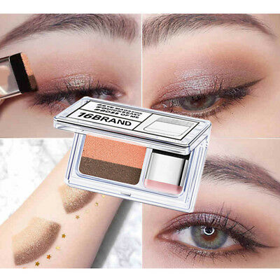 2 Color Lazy Eye Shadow Powder Rainbow Shimmer Pigment Makeup Beauty Shadow