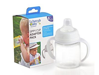 Cherub Baby Wide-neck Sippy Cup Adaptor Pack