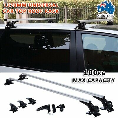 1370mm 54'' Universal Car Top Roof Rack Cross Bars Aluminum Alloy Aero Lockable