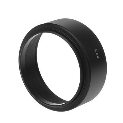 Universal 52mm Long Focus Lens Hood Screw-In Mount For Canon DSLR SLR Camera
