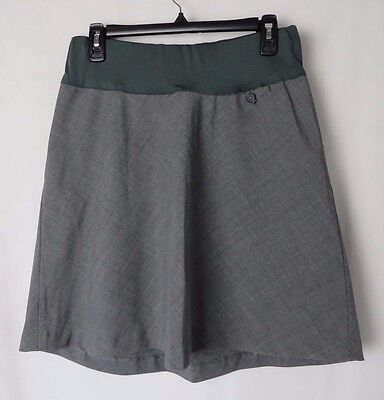 Gap Maternity Skirt Gray Plaid  Pull On Style Wool Blend Size 4 #5397