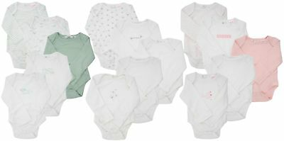 Ex Store 5 Pack of Baby Long Sleeved Bodysuits