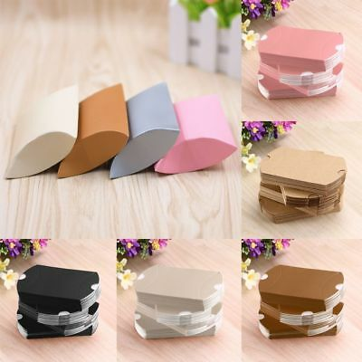 50x Craft Paper Bags Pillow Box Gift Cake Bread Candy Wedding Party Favor Bag fr
