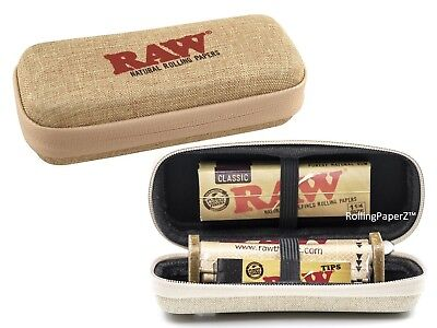 New RAW CONE WALLET ZIPPER CASE + 1 1/4 Classic Papers + Rolling Machine + Tips
