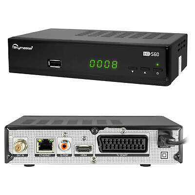 Sat Receiver Skymaster S60 FULL HDTV Satellit HD Digital + HDMI Kabel DVB-S2 USB