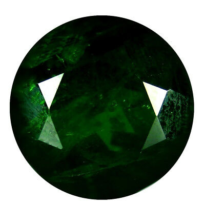 4.31 ct AAA Superb Round Shape (9 x 9 mm) Green Chrome Diopside Natural Gemstone