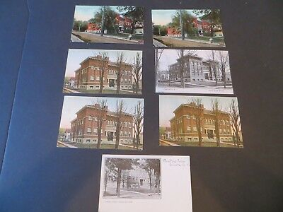 SEVEN Oneonta NY Postcards ca.1907-16 - ALL Center Street School Building    Z6