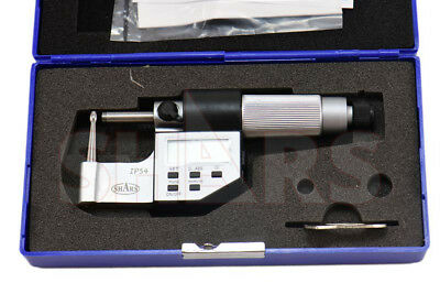 "SHARS 0-1"" Tube Micrometer .00005"" / 0.001mm Graduation Carbide Tipped NEW"