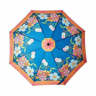 Coynes Floral Automatic Open Close Bright Flower Folding Umbrella Compact Brolly
