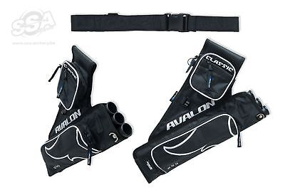New Avalon Archery Classic 3 Tube Quiver Right Hand With Belt 2 Storage Pockets