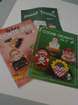 book lot of 3 craft cookie jar patterns diagrams sweet treats delight 1020