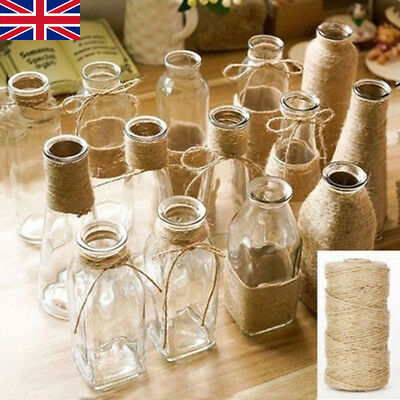 1m-1000m Natural Brown Soft Jute Twine Sisal String Rustic Shabby Cord DIY Craft