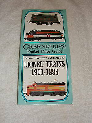 1993 greenbergs lionel trains pocket price guide book
